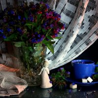 Весенний чай с медуницей... :: Нэля Лысенко