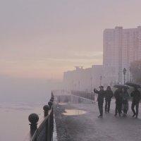 На город опускается туман. :: Тамара Бучарская