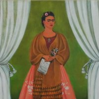 На выставке мексиканской художницы Фриды Кало. Автопортрет - 2 :: татьяна