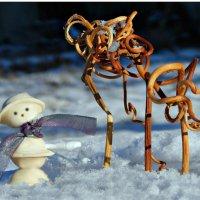 Снеговичок из равиоли. :: ЛЮБОВЬ ВИТТ