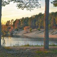 Закат на озере :: Александра