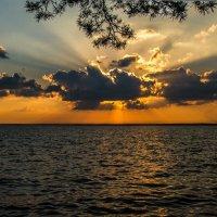 закат на Обское море :: Георгий А