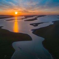 Озеро Маныч с высоты птичьего полёта :: Фёдор. Лашков