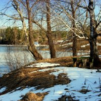 Скамейка с видом на речку... :: Нэля Лысенко