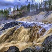 мощь водопада карельской ГЭС :: Георгий А