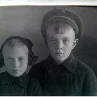 Моя мама с братом, дети войны. :: Marina Pr. **