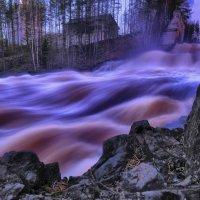 водопад в закатном свете :: Георгий А
