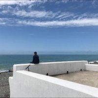 На берегу, смотря на волны, сидел он дум великих полон! :: Надежда