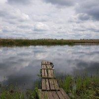 Я видел чудо - просто повезло. Река - зеркальное, застывшее стекло. :: Валерий Ткаченко
