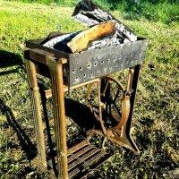 Лайфхак для мангала или...Вторая жизнь швейной машинки :: Галина Бобкина