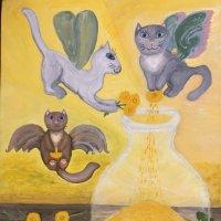 Моя картина «Приготовление вина из одуванчиков» :: Ирина Коноплёва