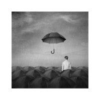 дождь :: старик