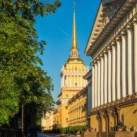 Здание Адмиралтейства, заложенное по чертежам царя Петра I в 1705 году :: Максим Хрусталев