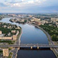 Володарский мост - аэросъёмка в Санкт-Петербурге :: Дмитрий Балагуров