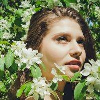Девушка и цветущие яблони :: Лилия Сурмятова