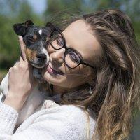 Мы с Полканом на границе. :: Наталья Остапенко