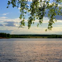 Вечер над озером :: Нэля Лысенко