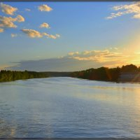 Закат на реке Москва :: Михаил