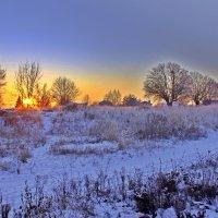 Зимний пейзаж: свет заката :: Евгений