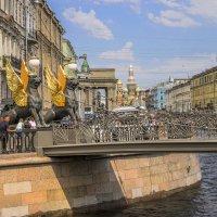 Канал Грибоедова. Вид на обновлённый Банковский мостик :: bajguz igor