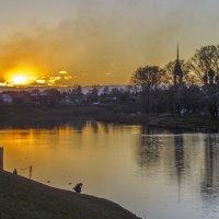 Вечер на Вологде-реке :: Сергей Цветков