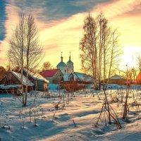 Бывают зимние чудесные рассветы :: Валерий