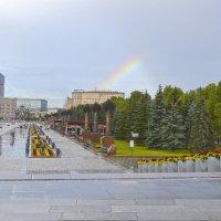 После дождя.Радуга над парком Победы. :: Александра