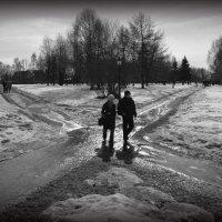 Крест на зиме. :: Борис Бутцев