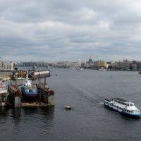 Вид с моста Бетанкура в сторону Тучкова моста. :: Елена Павлова (Смолова)