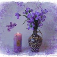 Бабочка летит на Свет свечи, пляшет пламя радостно в ночи... :: Nina Yudicheva