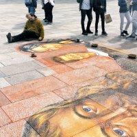 Уличный художник на соборной площади. Кёльн. :: Константин Подольский