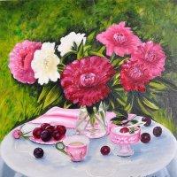 Натюрморт с пионами. Переписала цветы. :: Людмила Ковалева
