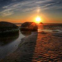 Гранитный берег ..закат :: Cергей Щагин