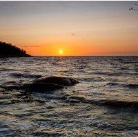 Ночь на острове Кий.  Июль, 2019. :: Валентин Кузьмин