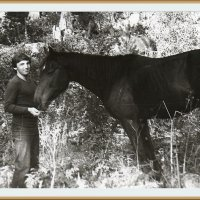 Со своим другом!  Конный маршрут, Алтай сентябрь 1983 года :: Валентин Соколов