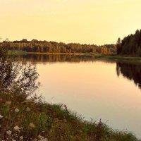Августовский вечер на озере :: Александр Бойченко