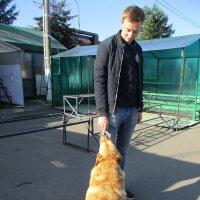Мой сын с собакой-выгулякой.. :: Зинаида