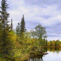 Волшебное озеро в Ловозеро саамской деревне. :: Анна Приходько
