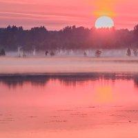 рассвет на озере :: Василий Иваненко
