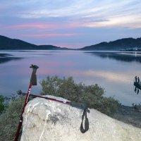 Вечер на горном озере Жасыбай...Дойти и увидеть... :: Хлопонин Андрей Хлопонин Андрей