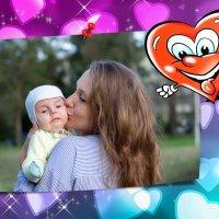 Внук Сашка и мама - Марта :: Владимир Гурьянов