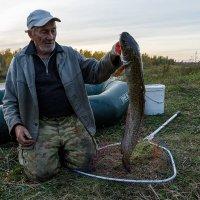 Старик и рыба. :: Евгений Голубев