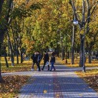 Ижевск, золотая осень на бульваре Гоголя :: Владимир Максимов