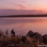 Рыбачка на вечерней зорьке :: Александр Богатырёв