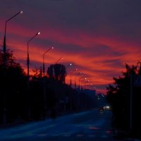 Закат над городом :: Александр Довгий