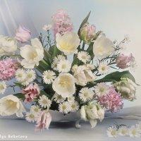 Большой букет из тюльпанов и гиацинтов :: Ольга Бекетова