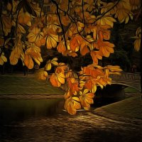 Осенней позднею порою люблю я царскосельский сад... :: Tatiana Markova