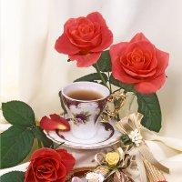 С розами, чаем и конфетами :: Ольга Бекетова
