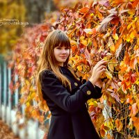 Девушка возле забора... :: Nadine Surovitskaya