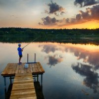 Вечерняя рыбалка :: Дмитрий Кудрявцев